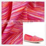 uv resistant rainbow colored spandex sportswear fabric for shoes