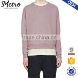 Plain Raglan Sleeve Salmon Wholesale Men's Sweatshirts