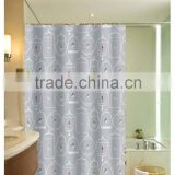 Cages and Birds printed Simple design 100% polyester shower curtain for hotel, family, waterproof bath curtain
