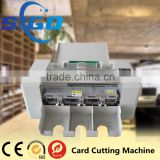 SG-002-I a4 name card die cutting machine electric pvc business id card cutter