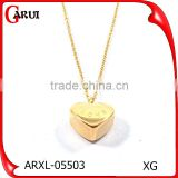 Fashion Jewellery Necklace Heart Style Stainless Steel Jewelry Gold Necklace