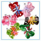 Handmade girls hair accessories grosgrain ribbon flower hair bows children ribbon hair bow wholesale