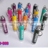 Mini keychain outdoor LED emergency torch LED logo customed design keyring to advertising