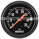 65mm Black Face LiquidFilled Mechanical Boost Gauge for diesel 0~35PSI