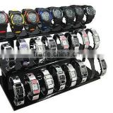 BLACK ACRYLIC JEWELLERY DISPLAY STAND FOR 24 BRACELETS WATCHES