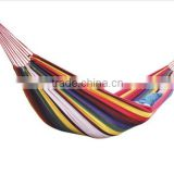 single person size rainbow color cotton made outdoor camping hammock