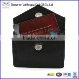 custom soft genuine leather card holder envelope credit card case wholesale factory supply