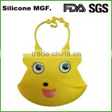 Shinerin alibaba China supplier Silly Bibs soft silicone bib with crumb catcher