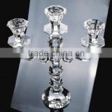 3 arm crystal candelabra