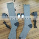 Manufacturer/Wholesale/Promotion CE/ROHS Durable heated socks with battery foot massage socks heated electric heated socks