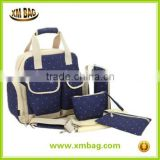 Fashion Mommy bag baby diaper bags with multiple poc baby nappy changing bag mami bag 2014 washable Baby Diaper Bag