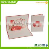 Top grade top sell musical paper greeting cards design