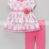 2015 Miss123 cotton cute baby girls dress triple ruffle outfits children's dress sets