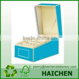Assorted colour Business Card File Box with Dividers A to Z                                                                         Quality Choice