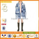 Made in China Designer Dress Used Clothing Winter Jacket With Denim Fabric For Woman