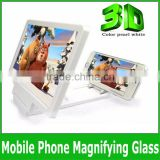 Hot selling Universal Mobile Phone Screen Zoom Magnifying Glass Reading Amplifier with Cover