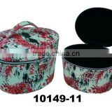 Round tube Cosmetic Box with Handle/zipper