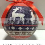 Christmas Decoration Supplies Frosted Plastic Christmas Ball Ornament Plastic Christmas Baubles Personalized