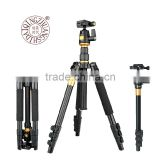 QZSD-Q555 1540MM telescopic aluminum digital DSLR video camera tripod monopod professional tripod with ball head camera mount