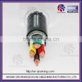 2014 new product Medium voltage cable Non-magnetic stainless steel wire armour cable XLPE PVC cable