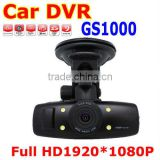 low factory price 1080P vehicle dash camera, GS1000 built-in gps dvr, car DVR black box car camera