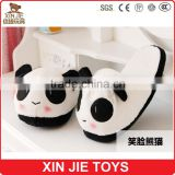 cute plush panda slipper warmly panda slipper for girls new design winter indoor plush slipper                                                                         Quality Choice