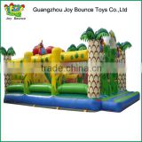 kids inflatable jumping house,monkey inflatable jumping park,jungle animals jumping castle for sale