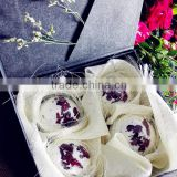 Luxury Rose dry flower SPA bath bomb set whitening moisturizing romantic bath salt gift set OEM 30 g to 200 g
