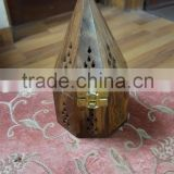 Pyramid/ Cone Design Wood Incense Holder / Incense Burner (Bakhoor)