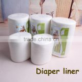 Happyflute biodegradable & flushable diaper liners,disposable baby cloth diaper liner