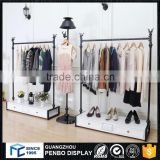 Fast delivery metal wooden jeans clothes display rack for clothes                                                                         Quality Choice