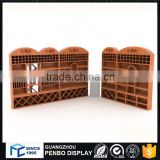 Good price Custom made retail bottle display and wine wooden display cabinet