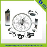 DIY hub rear motor ebike kit with Li-ion battery and aluminium alloy wheel                                                                         Quality Choice