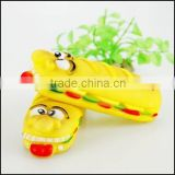 plastic pet chew hamburger shape toy, custom made pet like food toy, custom made plastic food for pet chew