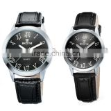 china watch factory Alibaba hot selling round face chinese quartz couple watch                                                                         Quality Choice