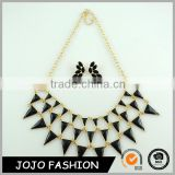 Fashion bride wedding jewelry set gold plated black stone necklace earring jewelry sets for party                                                                                                         Supplier's Choice