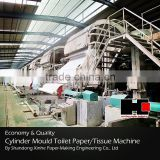 Shandong Xinhe 3500mm mould cylinder toilet paper making machine price