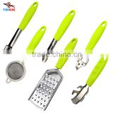 INquiry about Stainless Steel kitchen tools sets 6 in 1 multifunction kitchenware sets opener peeler With ABS Handle                                                                                                         Supplier's Choice