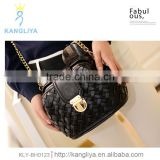 Vintage ladies doctor bag black woven so classy handbag beautiful designer shoulder chain bags