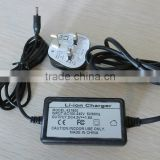 wall charger with wires AC100-240V 4.2V/1.8A li ion charger for 18650 Li-ion battery pack