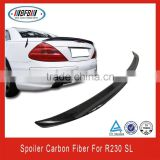 Unpainted ABS Plastic spoiler For Mercedes Benz SL-class R230 2D Coupe A Type Rear Trunk Spoiler 03~11