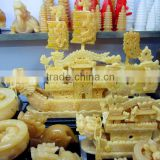 HOT SALE High Quality Newest chinese imitation dragon yellow jade boat
