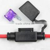 WATERPROOF 15A In-line Mini Blade Type Fuse Holder