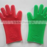 silicone heat resistant gloves heat proof oven mitts five fingers grilling gloves for barbecue non slip kitchen gloves