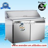 300L New Style Stainless Steel under counter salad bar refrigerator