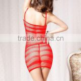 Accept paypal hot sale high quality cheap babydoll dress red fishnet sexy women lingerie