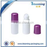 Plastic good price perfume liquid roll on bottle container for deodorant packaging