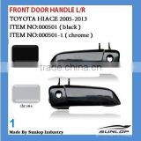 toyota hiace car spare parts hiace Chrome Front Door Handle#000501-1 000501 black chrome door handle hiace front door handle