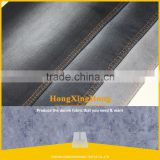 NO.785 Cotton Polyester Spandex Woven Dyeing Fabric Twill Drill Denim Like Stretched Elastic Fabric Black Weft
