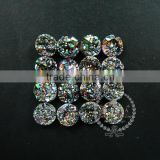 14mm rainbow black plated druzy quartz irregular surface round stone cabochon for DIY earrings,rings supplies 4110097